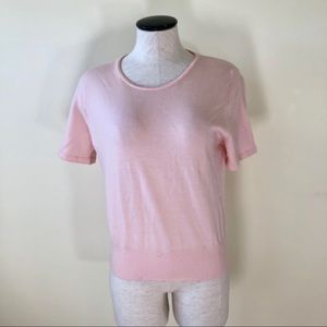 Kate Hill pale pink short sleeve sweater medium